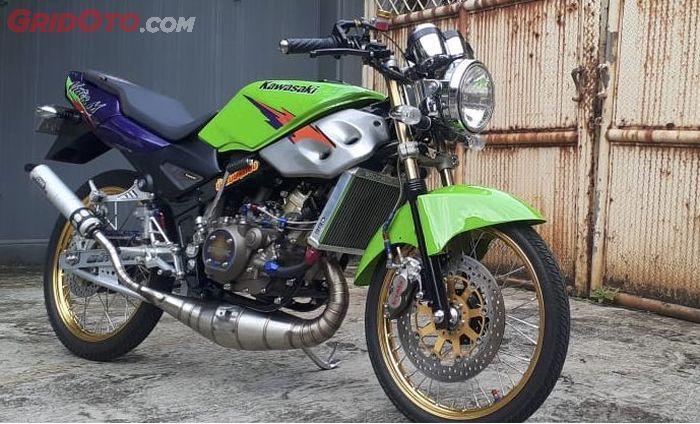 Kawasaki Ninja R berubah jadi Victor M, ubahan simpel bikin berasa di Thailand nih.