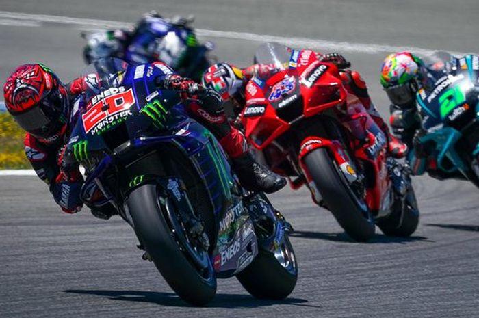 Ilustrasi balap MotoGP