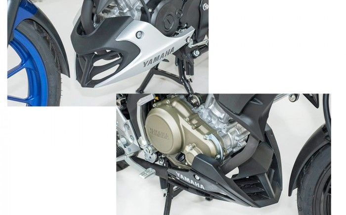 Undercowl All New V-Ixion R (kiri) dan All New V-Ixion (kanan)