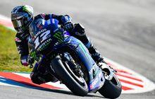 maverick vinales 'dipaksa' turun 3 posisi di start motogp catalunya