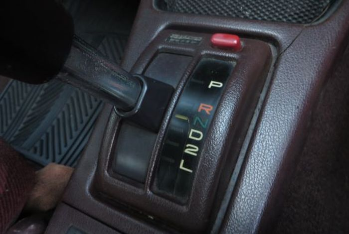 On old automatic cars, position the automatic transmission lever at N