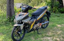 Modifikasi Simpel Yamaha MX King 150, Rem dan Kaki-kaki Mempesona