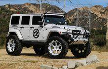 jeep wrangler tambah jangkung, jadi mencolok pakai pelek forgiato