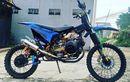 Trail Garang Berbasis Yamaha Mio Soul, Matic Off-road Pakai Rantai