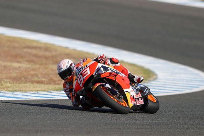 Marc Marquez unggul di FP4 MotoGP Spanyol dengan selisih 0,001 detik dari Maverick Vinales
