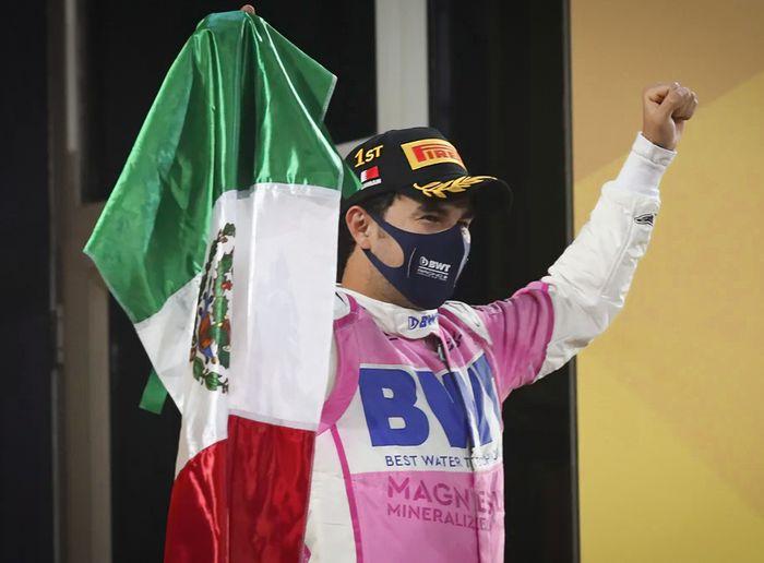 Berhasil meraih kemenangan di F1 Sakhir 2020, Sergio Perez dapat ucapan selamat dari Presiden Meksiko