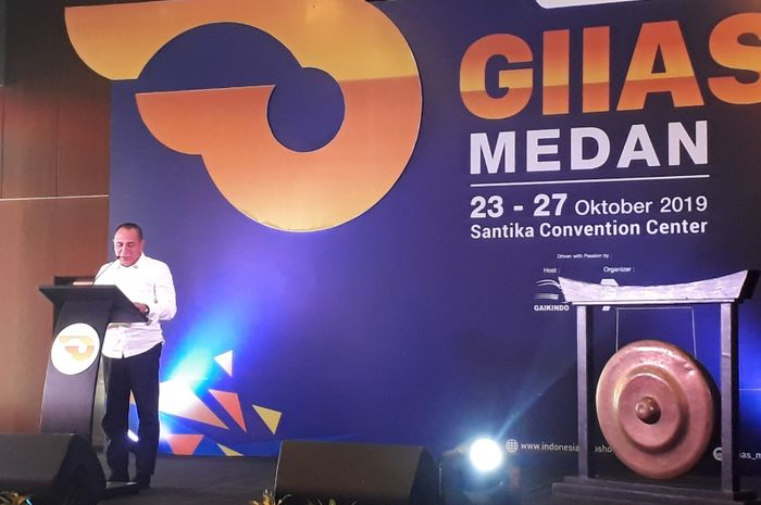 Gubernur Sumatera Utara, Edy Rahmayadi meresmikan GIIAS Medan 2019