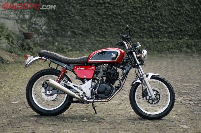 Honda Tiger Revo Berubah Jadi Tracker Klasik Kiblatnya Honda Cb223s Gridoto Com