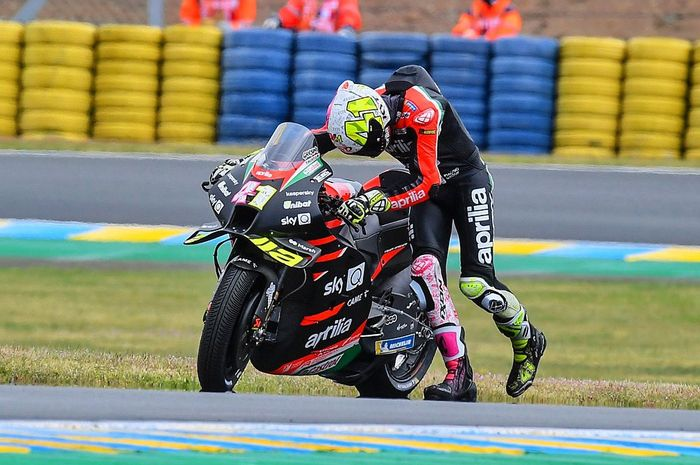 Sedang dalam performa tinggi di empat seri pembuka, Aleix Espargaro kecewa dengan performa Aprilia RS-GP di balapan basah.