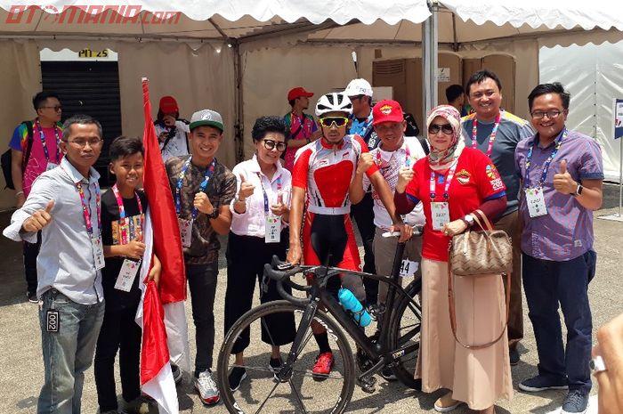 M Fadli ditemui penggemarnya usai balap Paracycling Asian Para Games 2018
