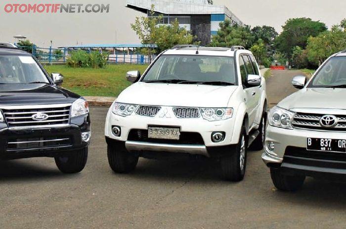 Mitsubishi Pajero Sport, Toyota Fortuner dan Ford Everest