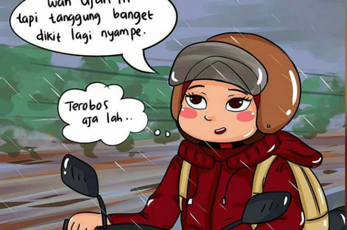 Kamu Termasuk Gambar Komik Ini Enggak Hujan Tanggung Malas Neduh Gridoto Com