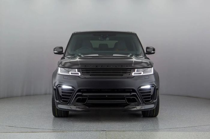 Tampilan depan modifikasi Range Rover Sport hasil garapan Overfinch