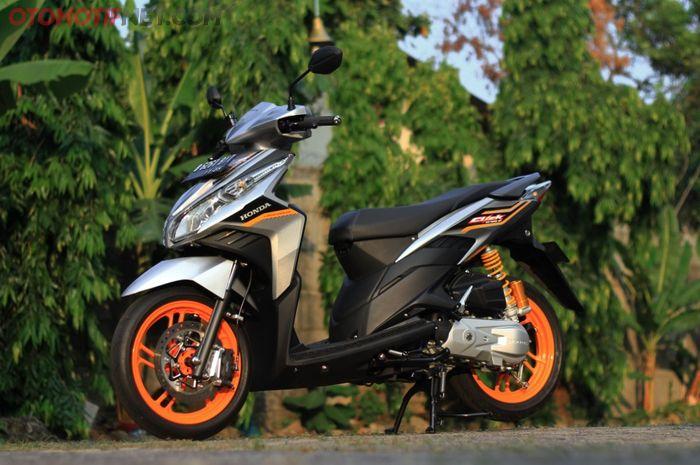 Modifikasi Honda Vario CBS Techno lansiran 2009 yang tetap tampil menarik di 2021 garapan RD Matic Shop
