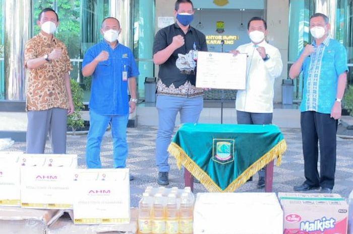 PT Astra Honda Motor kembali bagikan beragam donasi kepada masyarakat di masa pandemi