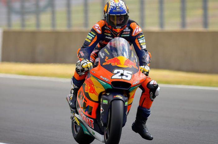 Hasil Kualifikasi Moto2 Prancis 2021: Raul Fernandez unggul tipis dari murid Valentino Rossi, pembalap 'Tim Indonesia' start baris kedua