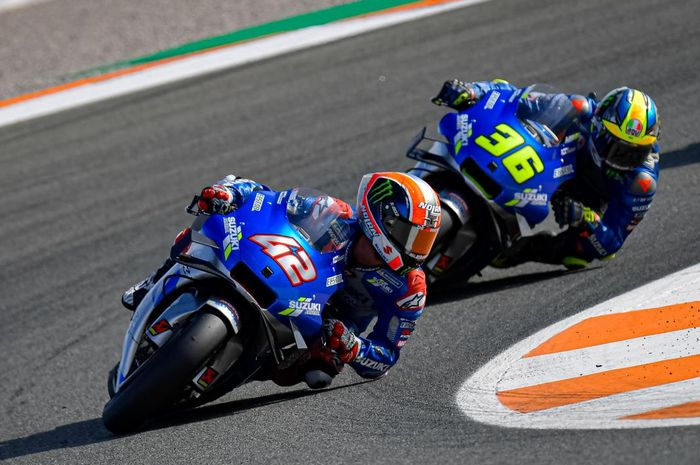 Joan Mir dan Alex Rins melempem di sesi kualifikasi MotoGP Valencia 2020, Begini Tanggapan Bos tim Suzuki
