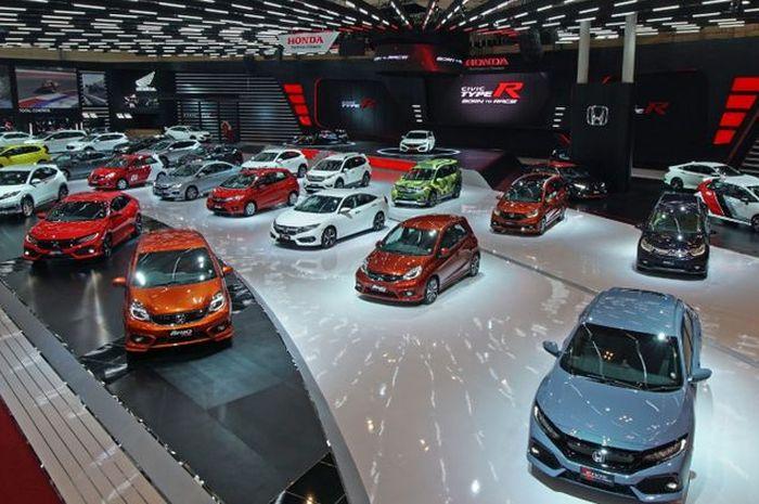 Ilustrasi booth Honda dalam ajang pameran otomotif Nasional