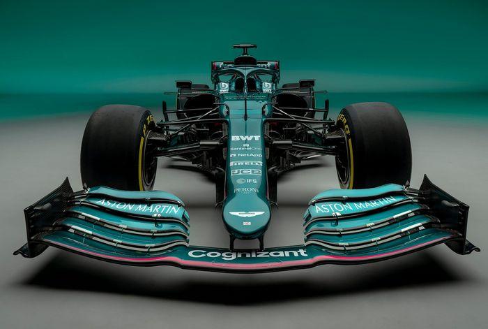 Tim Aston Martin resmi meluncur skuadnya, begini tampilan mobil baru Sebastian Vettel di Formula 1 2021