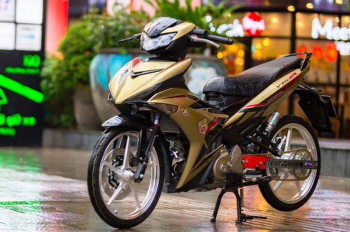 Modifikasi Yamaha MX King 150 berbodi gold
