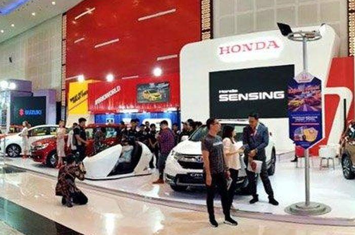 Ilustrasi Honda Sensing di mobil baru Honda