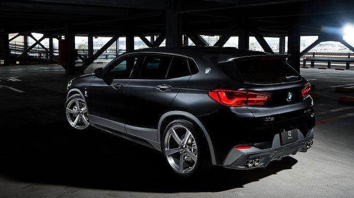 Tampilan belakang BMW X2 dengan diffuser baru garapan 3D Design