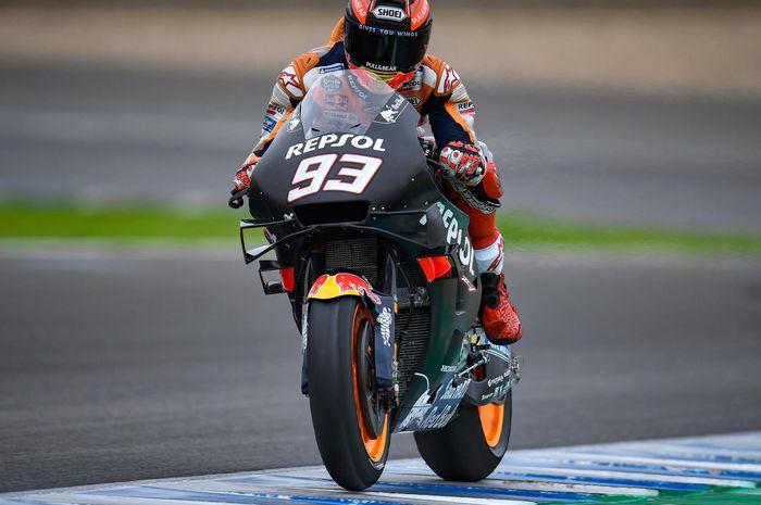 Marc Marquez menjadi yang tercepat, sementara Suzuki menempatkan dua pembalapnya di tiga besar, berikut hasil tes MotoGP Jerez hari kedua