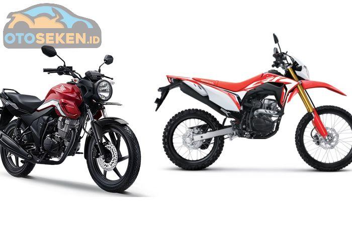 Honda CB150 Verza (kiri) dan CRF150L (kanan)