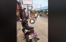 pemuda greget yang bakar motor saat ditilang akhirnya dipulangkan