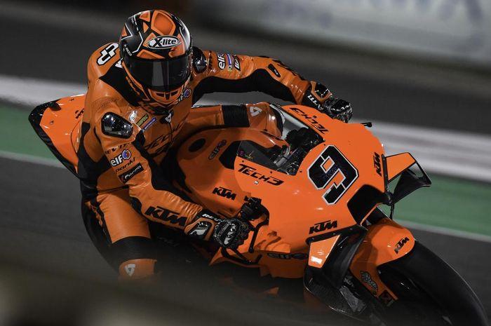 Terjatuh pada lap pertama balapan MotoGP Qatar 2021, Danilo Petrucci belum bisa jinakkan motor KTM, RC16?