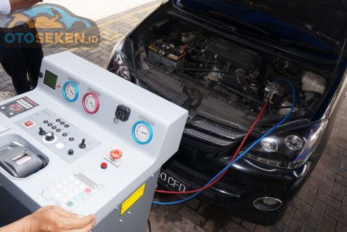 Ilsutrasi perawatan AC mobil