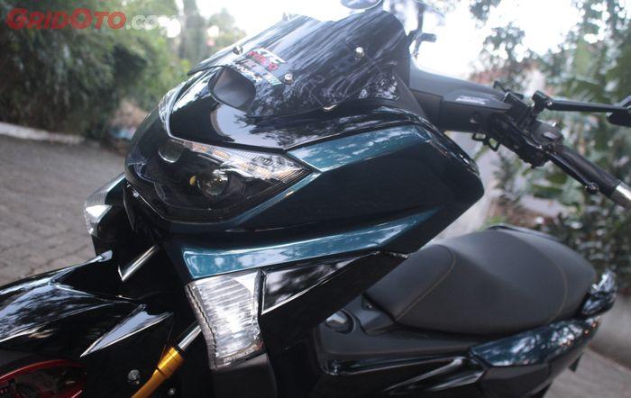 Bodi Yamaha NMAX lama repaint biru dongker dipadu hitam