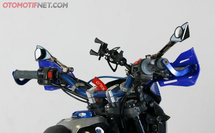 Setang lebih tinggi, riding makin nyaman
