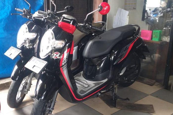 Ilustrasi Honda Scoopy bekas tahun 2020 di showroom Jogya Motor Pamulang, Tangerang Selatan