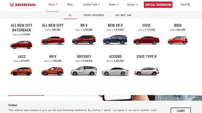Honda Mobilio hilang dari situs resmi Honda Filipina.
