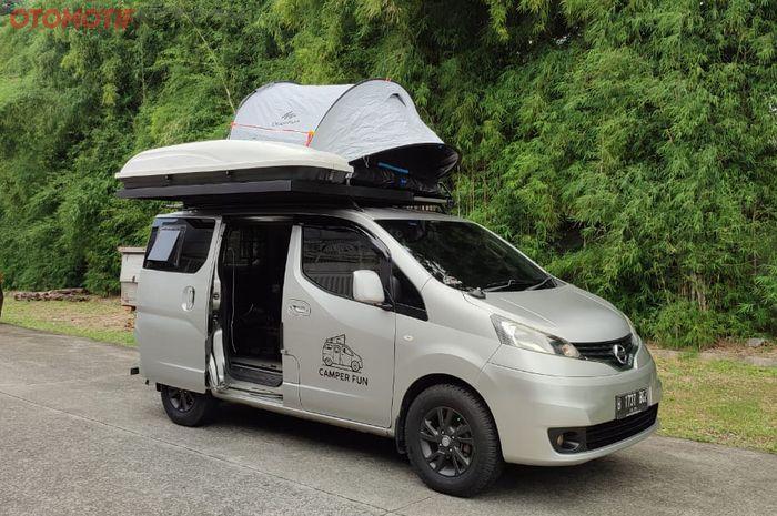 Nissan Evalia yang dimodifikasi campervan