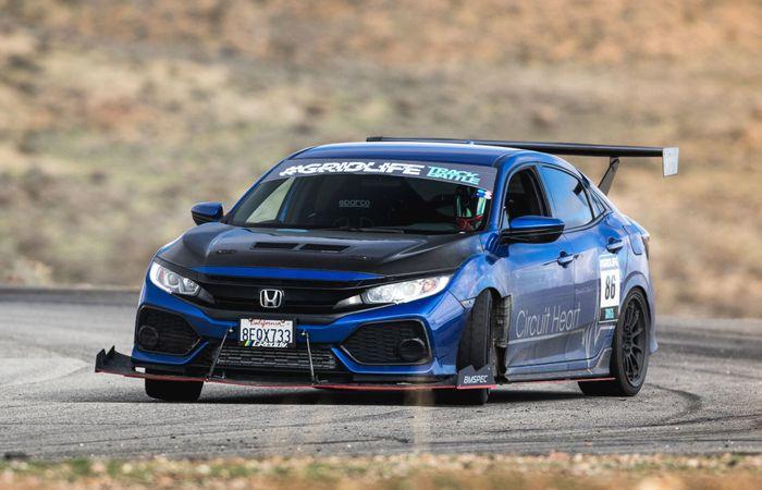 Modifikasi Honda Civic Hatchback Turbo sangar pasang body kit BMSPEC