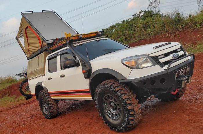 Modifikasi Ford Ranger 2010 dengan konsep camper yang simple