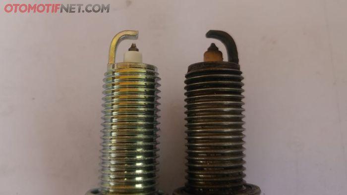 bentuk elektroda busi iridium runcing