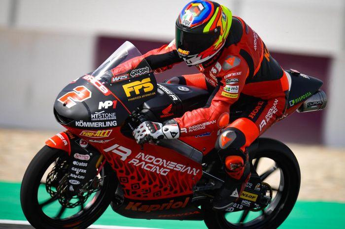 Hasil FP2 Moto3 Portugal 2021: Pembalap 'Tim Indonesia' asapi murid Valentino Rossi, Andi Gilang melorot