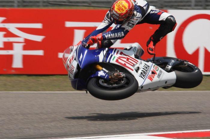 Highside Jorge Lorenzo di MotoGP Cina 2008