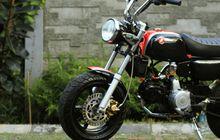 Honda Grand Disulap Jadi Monkey, Double Cakram, Swing Arm Unik