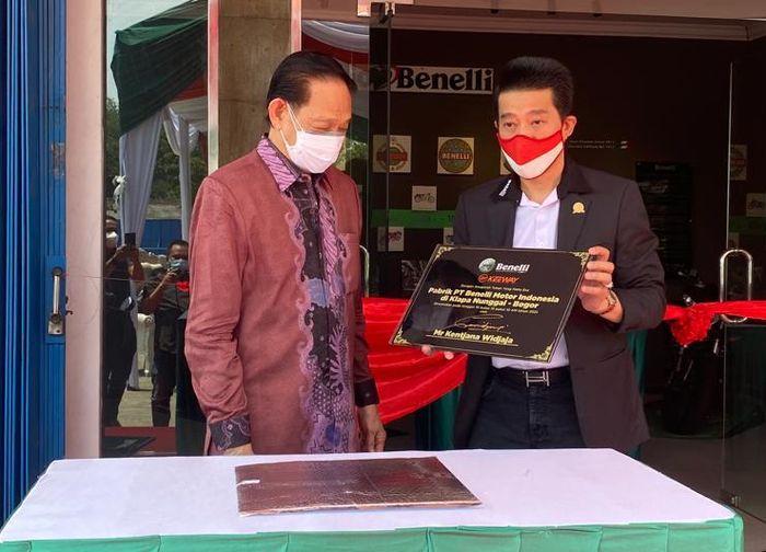Prosesi peresmian pabrik baru Benelli di Bogor, Jawa Barat