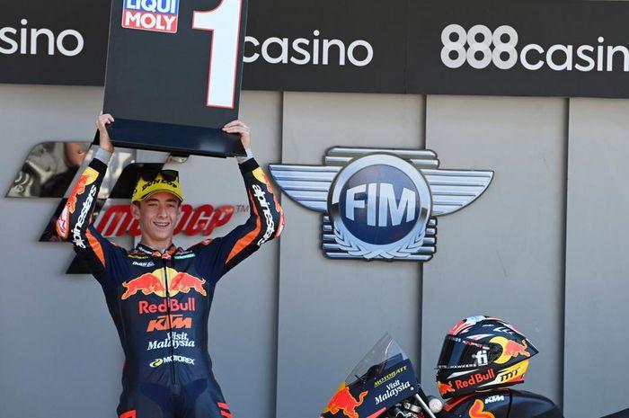 Pimpim klasemen sementara Moto3 2021, Pedro Acosta dapat pujian setinggi langit dari Valentino Rossi