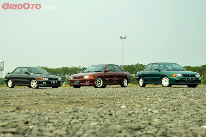 Trio Mitsubishi Lancer GTi, tetap pertahankan tampang aslinya