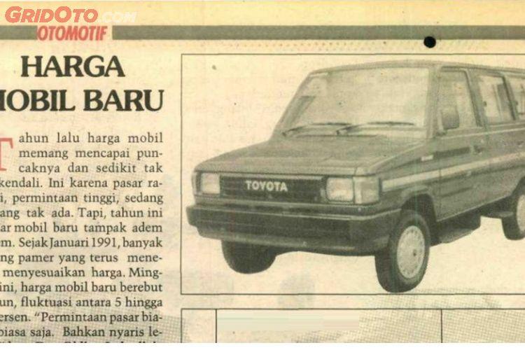 Otojadul Intip Daftar Harga Mobil 30 Tahun Yang Lalu Toyota Kijang Dan Suzuki Katana Cuma Dijual Rp 18 Jutaan Gridoto Com