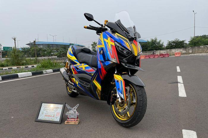 Yamaha XMAX ditopang kaki-kaki mewah, sukses mencuri perhatian
