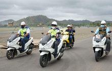 Naik Honda PCX, Rombongan Menteri Pakai Helm Proyek di Sirkuit Mandalika, Sebenarnya Aman atau Enggak Sih?