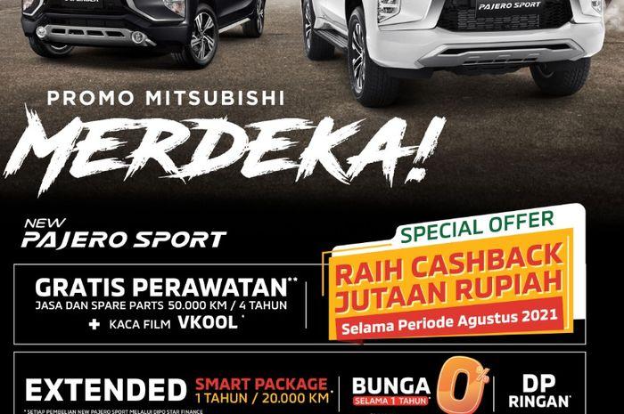 Promo penjualan Mitsubishi Agustus 2021. Berlaku di semua dealer Mitsubishi di seluruh Indonesia