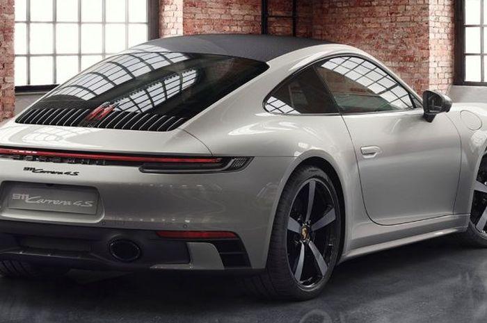 Mobil Porsche yang ditambah aksesoris baru yang ditampilkan di sosial medianya